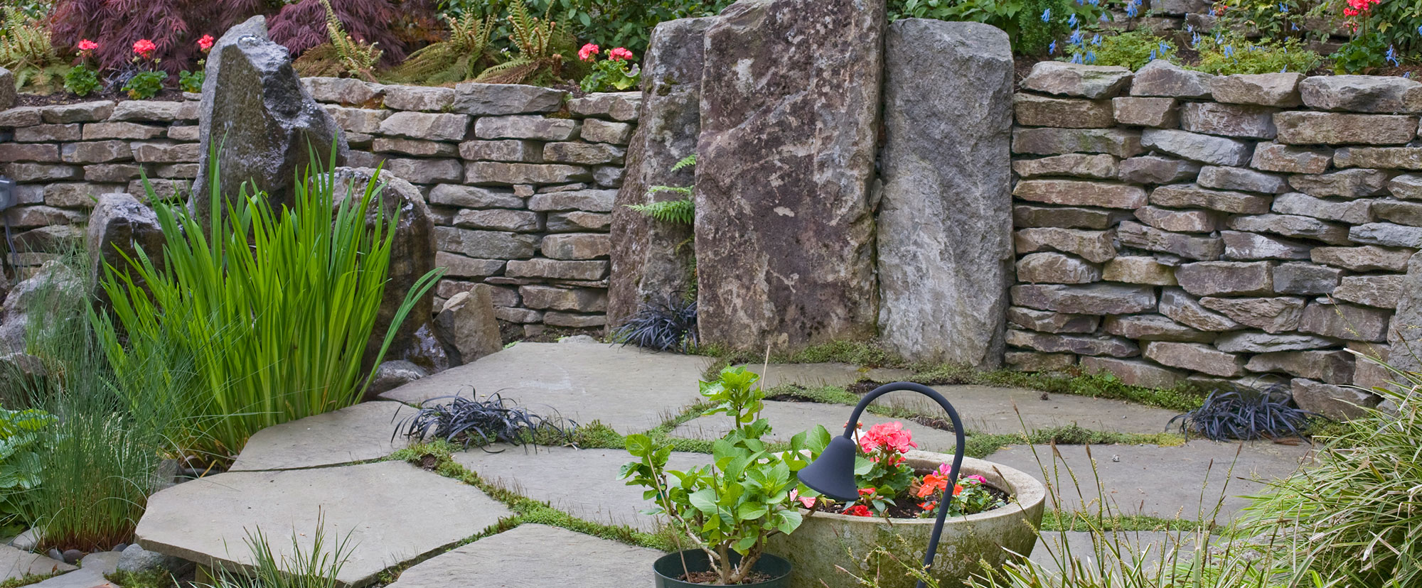 Natural stones for landscape design